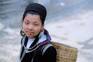Vietnam, Sapa, HIll Tribe Vendor