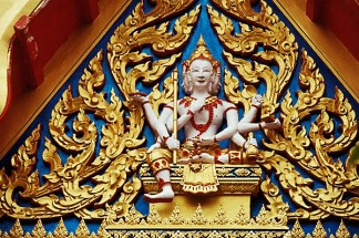 Thailand, Phuket, Carving, Wat Cha Long