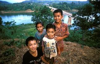 Laos, Vientiane Province, Children, Thalat