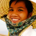 Vietnam, Hoi An, Lady wearing hat