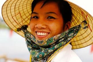 Vietnam, Hoi An, Lady wearing hat