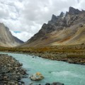 Himalayan river along Padum Trek, Ladakh, India.
